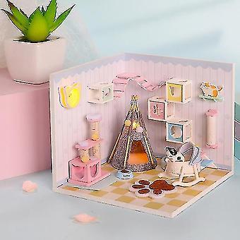 Dollhouse accessories cutebee doll house diy miniature dollhouse model wooden toy furnitures casa de boneca dolls houses