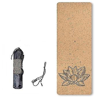 Yoga pilates mats scandinavian style eco friendly natural cork tpe yoga mat for fitness and training db07