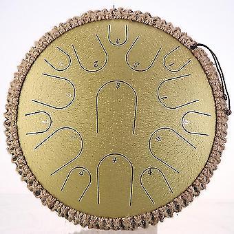 Nieuwe stalen tong trommel 13 inch 15 toon drum handheld tank drum percussie instrument yoga meditatie