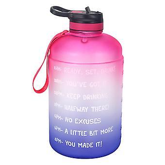 Botella de agua con marcador de tiempo motivacional, grande 3.78l