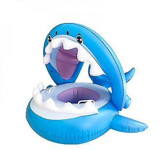 Baby Pool Shark Float Flotteur de natation avec auvent gonflable Floatie Swim Ring Bébé Jouets aquatiques