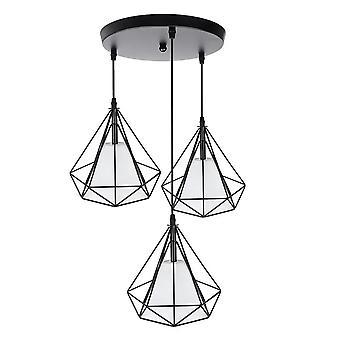 Lampe de cage de lustre de plafond de cru