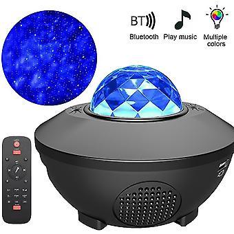 Vodné Ripple Hviezda Svetlo Bluetooth Hudba Rotujúce hviezdicové projekčné svetlo