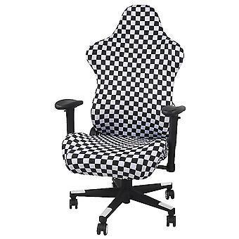 כיסוי מגן על כיסא גיימינג אלסטי לגיימינג בשחור-לבן של Silktaa