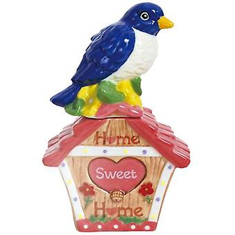Home Sweet Home Blue Bird of Happiness Salt Pepper Shakers Westland Giftware