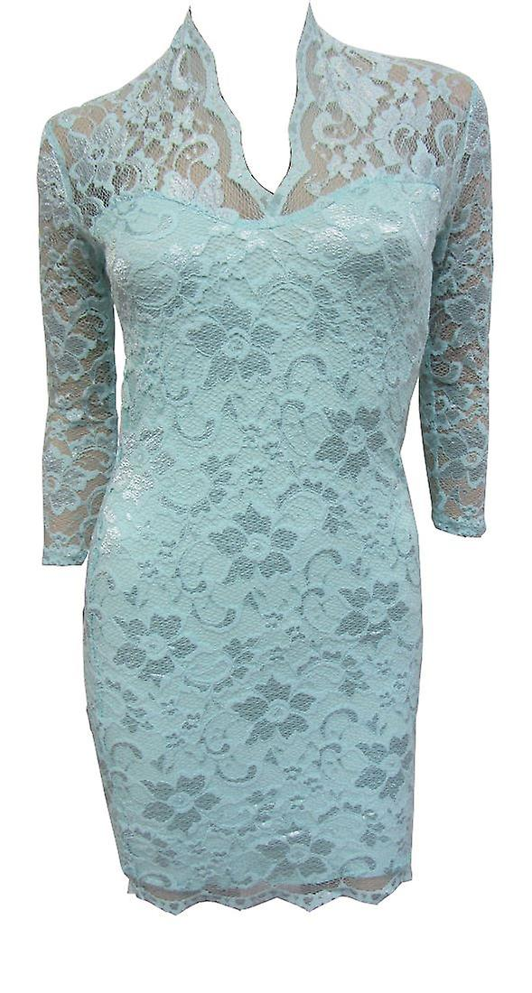 Asos Mint Lace Midi Dress DR750-6