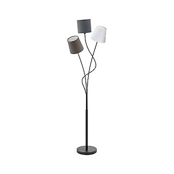 Eglo Tall Floor Standing Light With 3 Shades White, Brown And Grey