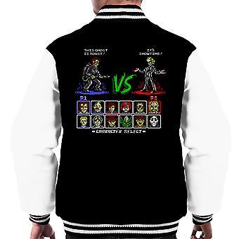 Super 80er Jahre gut Vs böse Männer Varsity Jacket