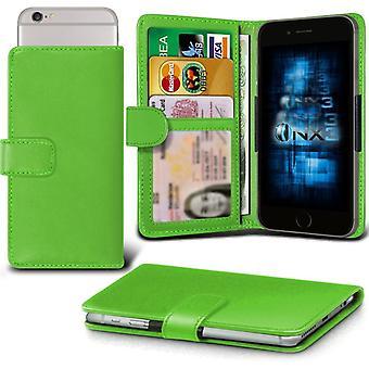 ONX3 iPhone 7 læder Universal foråret klemme tegnebog sag med Slot kortholderen og Banknotes Pocket-Green