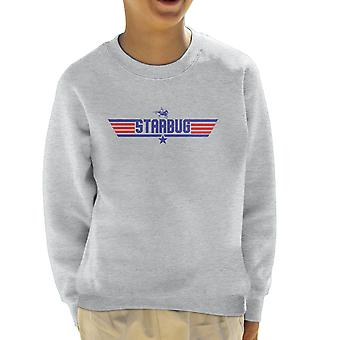 Top Gun Logo Starbug Red Dwarf Kid's Sweatshirt