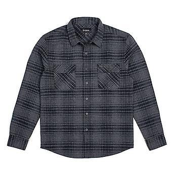 Brixton Bowery Flannel L/S Shirt Black Heather