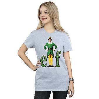 Elf Women's Buddy Logo Boyfriend Fit T-Shirt