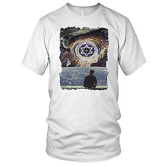 Surreal Design Psychadelic Spave Heaven Mens T Shirt