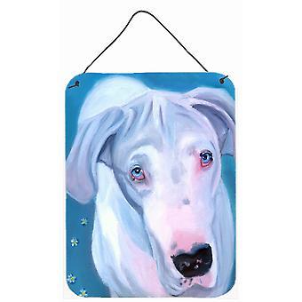 Carolines skarby 7440DS1216 biały Dog ściany lub drzwi wiszące drukuje