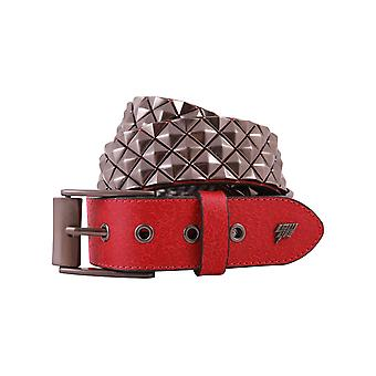 Lowlife Armor Leather Belt in Red