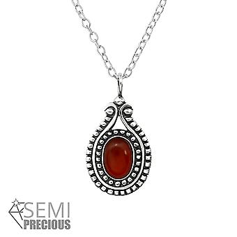Oval - 925 Sterling Silver Jewelled Necklaces - W31112X