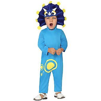 Disfraces de bebé niños bebé traje de dragón azul