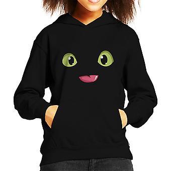 Tandlös ögon tungan hur man tränar din drake Kid's Hooded Sweatshirt
