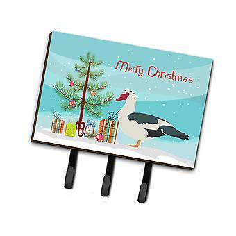 كارولين BB9231TH68 الكنوز بطة مسكوفي عيد الميلاد المقود أو حائز المفتاح