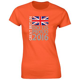 Come On Great Britiain Do Us Proud Womens T-Shirt 8 Colours by swagwear