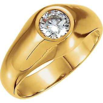 1,50 CT Herren Diamant Solitär-Ring 14K Gelbgold