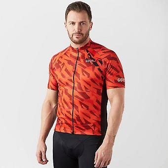 New Gore Men's C3 Camo MTB Mountain Bike Cycling Jersey Orange