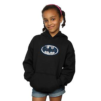 DC Comics Girls Batman Japanese Logo White Hoodie