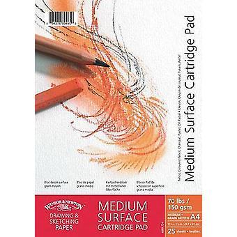 Winsor & Newton Medium Surface Drawing Pad Spiral 150gsm A6