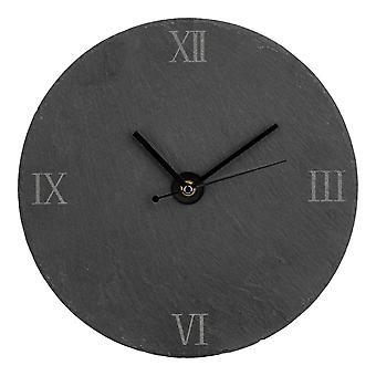 Relógio de parede feito de ardósia 30cm para viver em casa cozinha sala de jantar