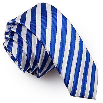Wit & Koningsblauwen dunne streep mager gelijkspel