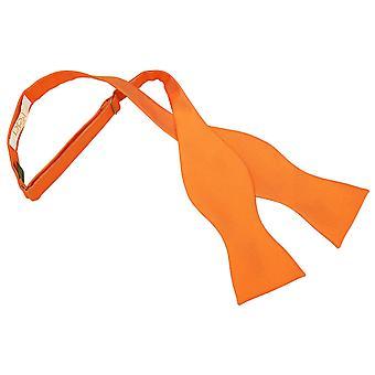 Celosia Orange Solid Check Self-Tie Bow Tie
