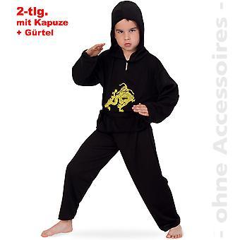 Fantasia infantil de Ninja traje crianças combatentes karatê lutador
