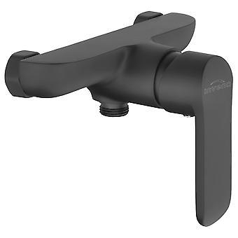 Badezimmer Dusche Wand Einhebel Mischbatterie schwarz pulverbeschichtet Messing