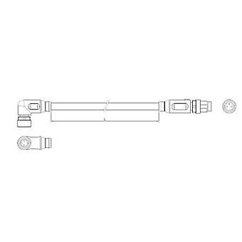 TE Connectivity 1-2273124-4 Sensor-/ manöverdon koppling (pre-fab) M8 Plug, raka, socklar, rätt vinkel 1,50 m nej. Pins (RJ): 3 1 dator