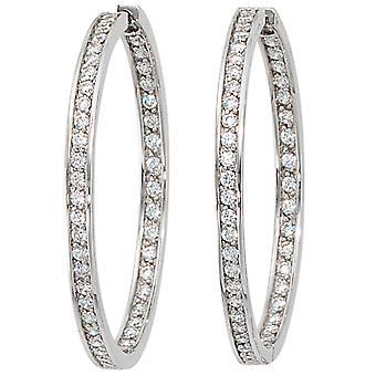 925 /-s cubic zirconia zirconias earrings silver hoop earrings rhinestone jewelry rhinestone