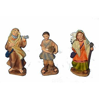 Nativity Shepherd and Shepherdess hikers crib Nativity stable