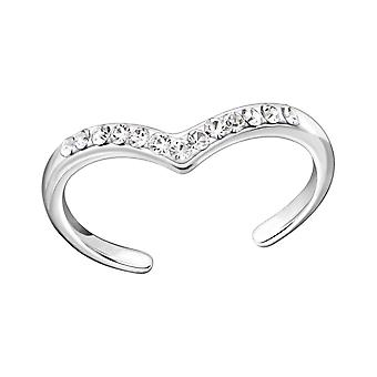 Heart - 925 Sterling Silver Toe Rings - W22285x