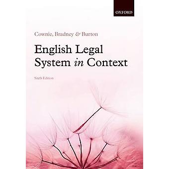 English Legal System in Context 6e by Fiona Cownie
