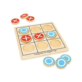 Bigjigs Toys en bois Noughts & croisements Tic Tac Toe jeu traditionnel ensemble