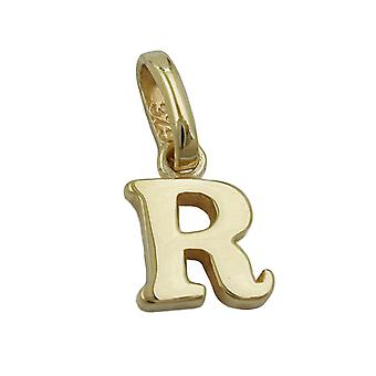 Chain letter R shiny 9Kt GOLD
