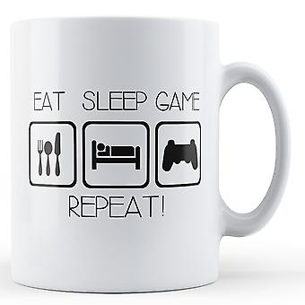 Eat Sleep Game Repeat - Printed Mug