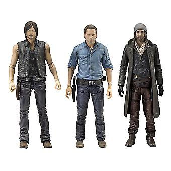 The Walking Dead Actionfiguren Allies Rick, Daryl & Jesus 3er Pack, Größe 5-. Material: Kunststoff, Hersteller: McFarlane.