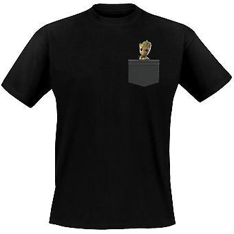 Guardiani della galassia maglietta tasca Groot