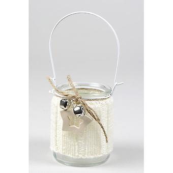 Special Christmas Glass Jar With Mesh