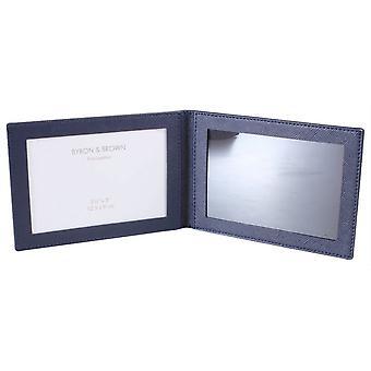 Byron and Brown 2 Fold Travel Frame 3.5x5 - Pada Blue