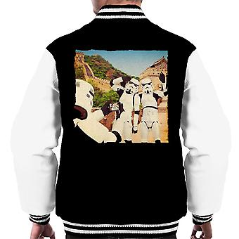 Oprindelige Stormtrooper Selfie Great Wall Of China mænds Varsity jakke