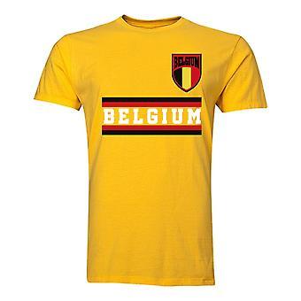 Belgique Core Football pays T-Shirt (jaune)