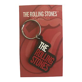 Official Rolling Stones Keyring Keychain classic Band Logo new Rubber