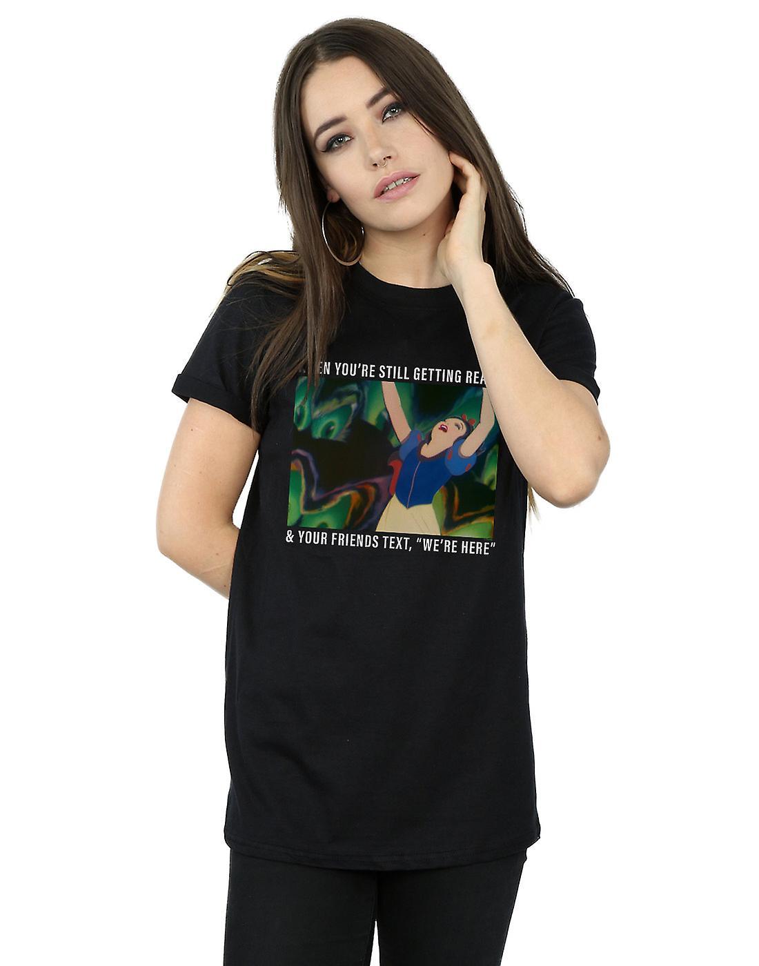 Disney Princess Women's Snow White Still Getting Ready Boyfriend Fit T-Shirt