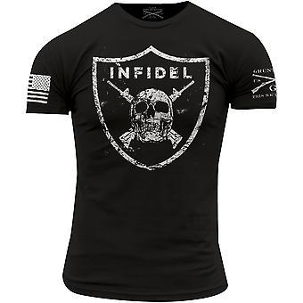 Grunzen Sie Stil Ungläubiger Rundhals T-Shirt-schwarz